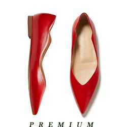 Wave point flat shoes Red