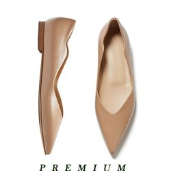Wave point flat shoes Beige