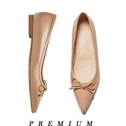 Classic ribbon flat shoes Beige
