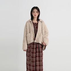 boucle collar cardigan (3colors)
