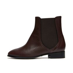 Line ankle boots Red brown