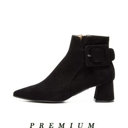 Pointed ankle boots Black