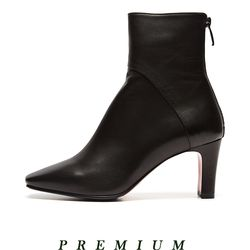 Square Line ankle boots Black