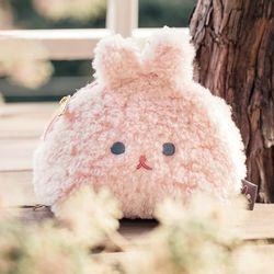 [12월 초 입고예정] 피요 포푸리 하프 문 파우치 M -PINK BUNNY