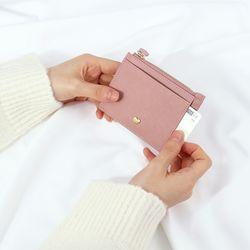 블로썸 핑크 데일리 심플 하트 카드지갑 CLAB18B01CPL