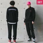 플루크 인터내셔널 자수 트레이닝 SET 맨투맨 + 팬츠
