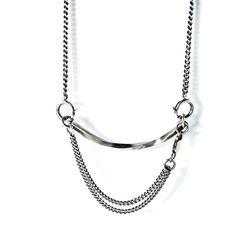 아벤투라 18AN-12 twisted chain bracelet necklace