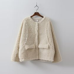 Faux Shearling Mini Jacket