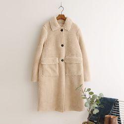 Faux Shearling Long Jacket