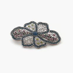 제이로렌 8H0014 꽃으로 가득한 스와로브스키 헤어핀