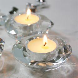 원형크리스탈촛대