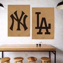 유니크 크라프트 디자인 포스터 M NY&LA 뉴욕 A3(중형)