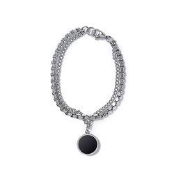Crump surgical steel 2chain bracelet(CA0017)