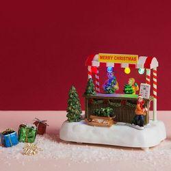 [adico]크리스마스 미니어처 빌리지 - 트리샵