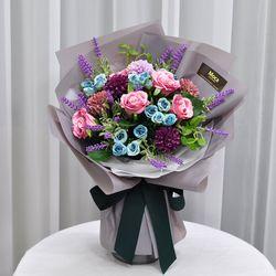 머브로즈 -조화 꽃다발 졸업식 재롱잔치 사탕 부케