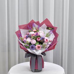 바이올렛러넌 -조화 꽃다발 졸업식 재롱잔치 사탕 부케