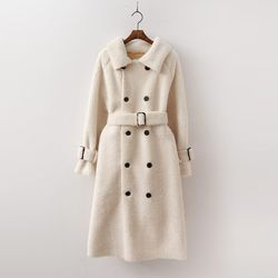 Double Trench Shearling Coat