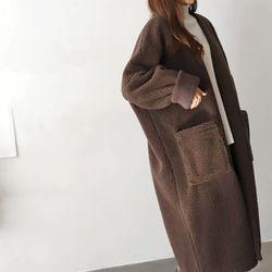 Faux Shearling Cardigan Coat