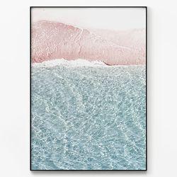 메탈 북유럽 바다 풍경 사진 포스터 액자 파도 [대형]