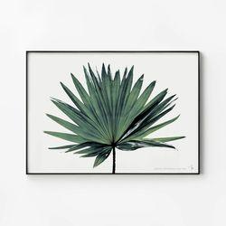 메탈 식물 포스터 인테리어 액자 나뭇잎 B [대형]