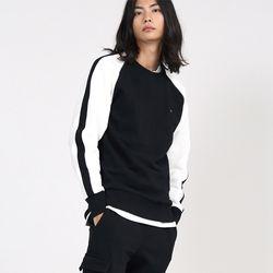 아카릿 3306-액티브 래글런(블랙)크루넥 스웨트셔츠