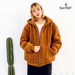 뉴해빗 - 후리스 양털 후드집업(안감누빔)