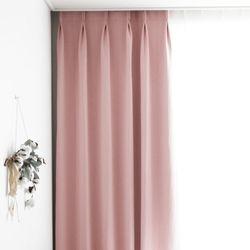나비주름 핑크 풀달암막 방한커튼 - S사이즈