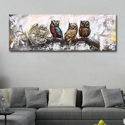 부엉이 입체 유화그림액자 인테리어소품 벽장식