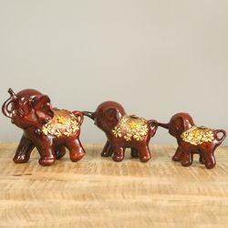 코끼리 열차 브론즈 장식소품