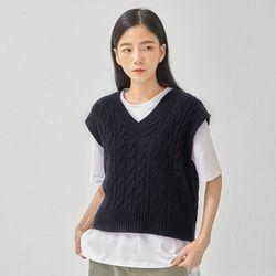 freshman twist wool vest