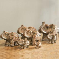 코끼리 대가족 7P 장식소품