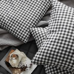 체키 차콜 트윌 방석(솜포함)(50x50)