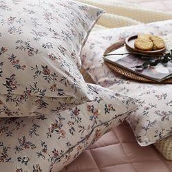 벨베나 핑크 트윌 방석(솜포함)(50x50)