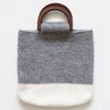 gray knit totebag
