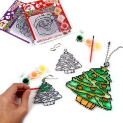 크리스마스글라스미술놀이 색상랜덤