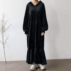 Minky Hoodie Long Dress