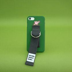 SUN CASE MEDIUM GREEN DEEP GRAY (ILLUST) 아이폰 폰케이스