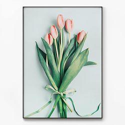 메탈 식물 꽃 인테리어 포스터 액자 튤립 [초대형]