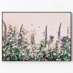 메탈 인테리어 식물 꽃 감성 포스터 액자 들꽃 [대형]