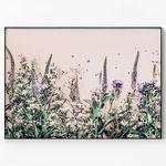 메탈 인테리어 식물 꽃 감성 포스터 액자 들꽃 [초대형]