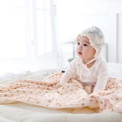 코니테일 코지 블랭킷 - 핑크체리 (극세사 아기담요)