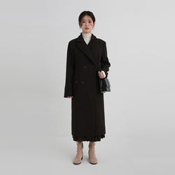 collar slim double coat (2colors)