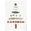 패브릭 천 포스터 F239 벽트리 액자 크리스마스 트리 B [중형]