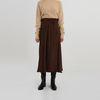 pleats lap detail banding skirt (2colors)