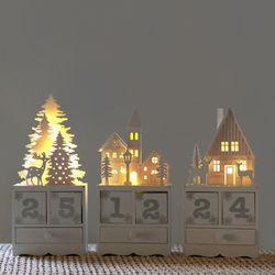크리스마스 캘린더 테이블 조명+그린시더네츄럴포장KIT