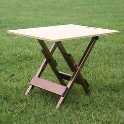 뱀부 대나무 테이블 접이식테이블 내하중 80kg