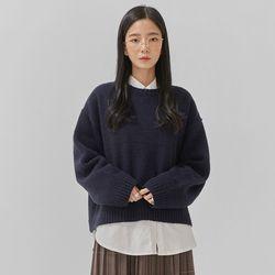 petit round wool knit