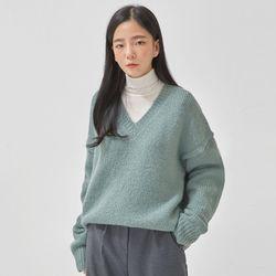 cloud alpaca v-neck knit
