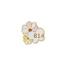 TOGETHER 814 뱃지(꽃나비)