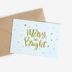 [금박] 메리민트 크리스마스 카드 set